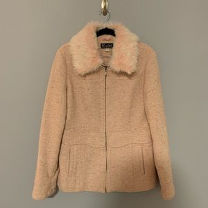 Mudd pink faux fur jacket!